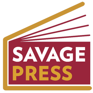 Gold-Red Savage Press Logo